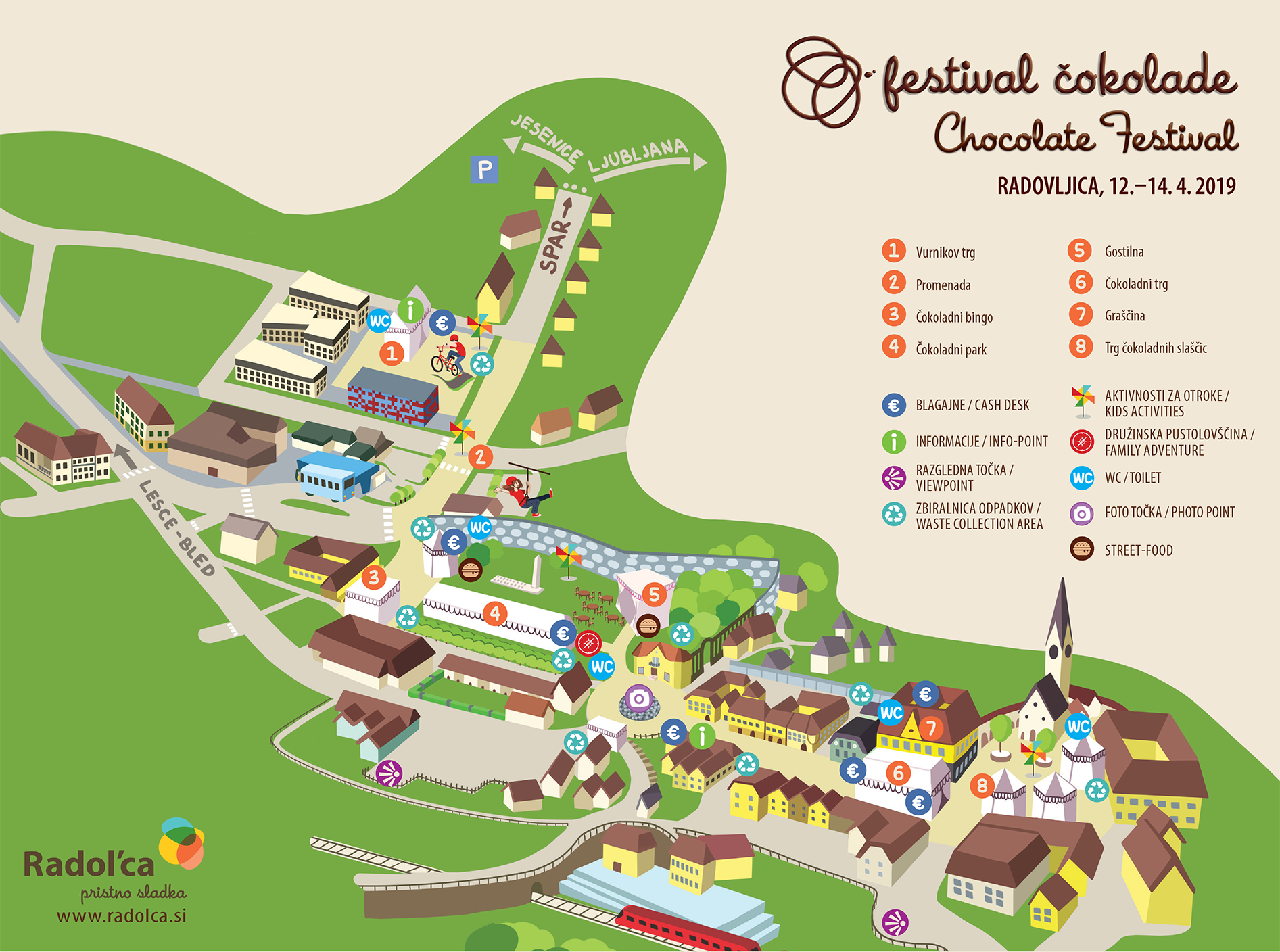 Radovljica Chocolate Festival Map 2019