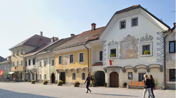 Šivec House in Linhart Square in Radovljica