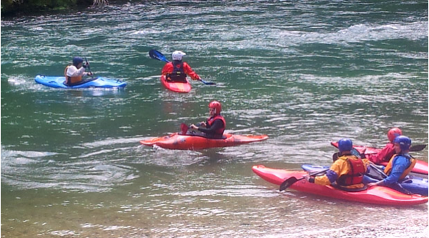 Learning to kayak on the Sava river