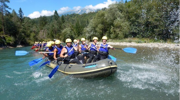 Rafting is a fun and adventures group activety