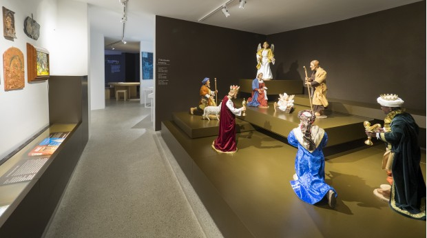 An exhibition of nativity scenes