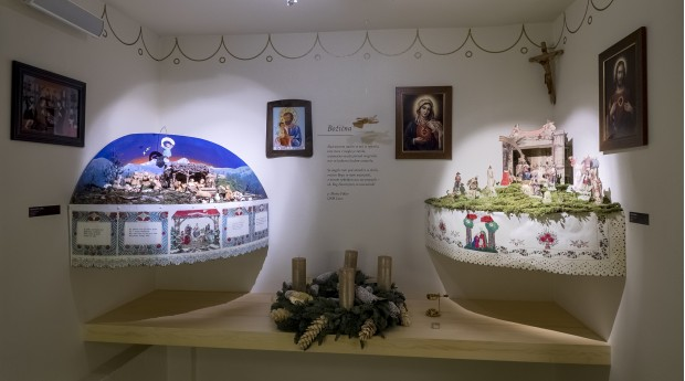 Traditional Slovenian nativity scenes in the museum