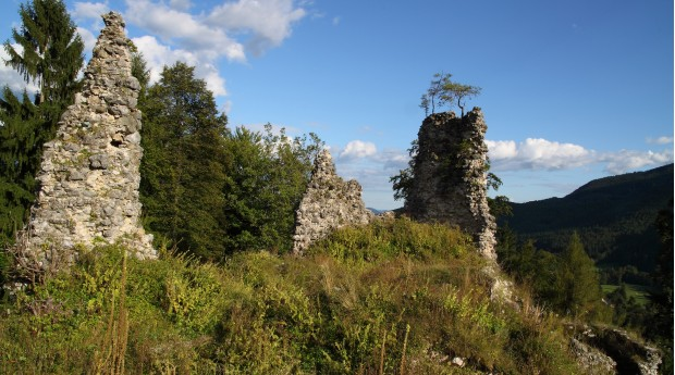 The ruins of Lipnica Castle