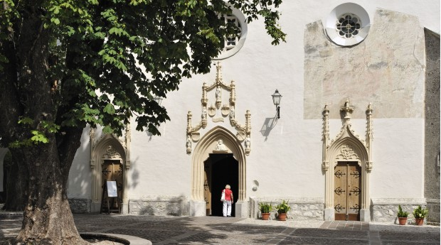 The entrance to St. Peter's Church