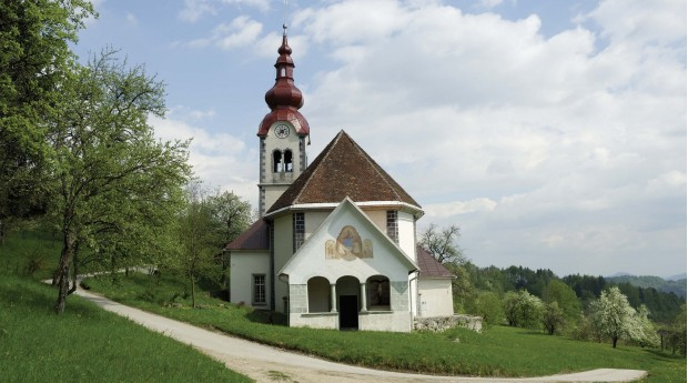 St. Lucy's Church in Zadnja vas