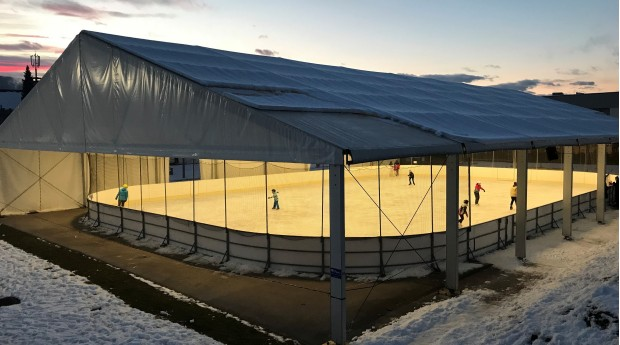 The covered ice rink in Radovljica